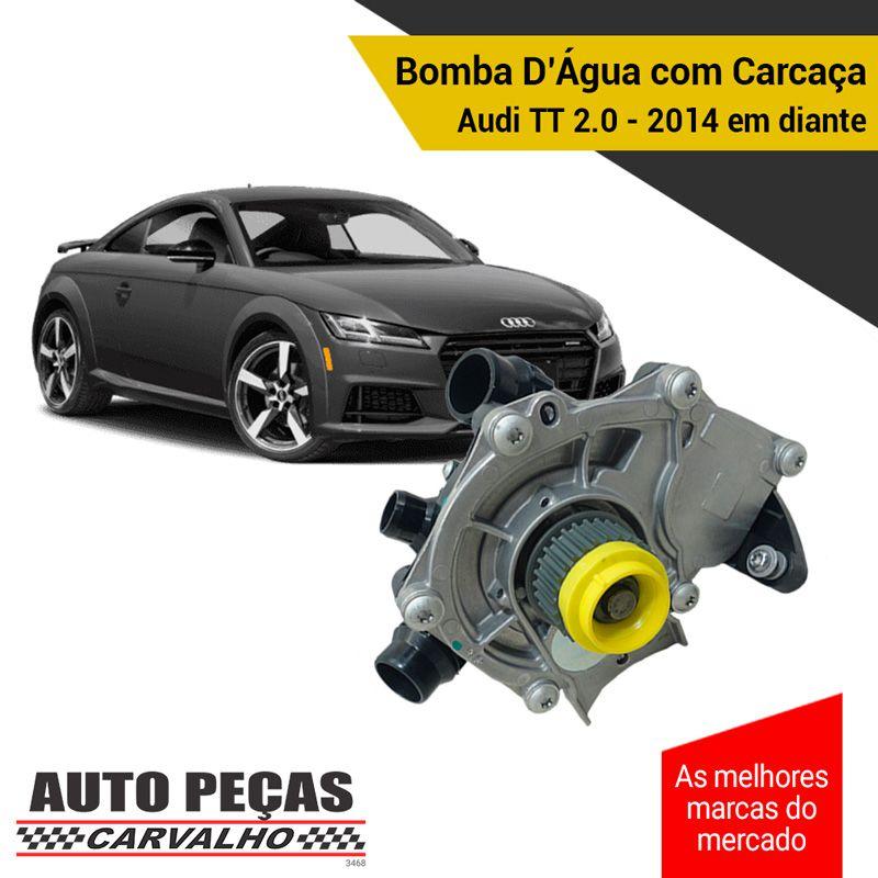 Bomba Água com Carcaça (STARKE) - Audi TT 2.0 - 2014 2015 2016 2017 2018 2019 2020 (SOMENTE COM MOTOR CHHC / CJXF / CJXG)