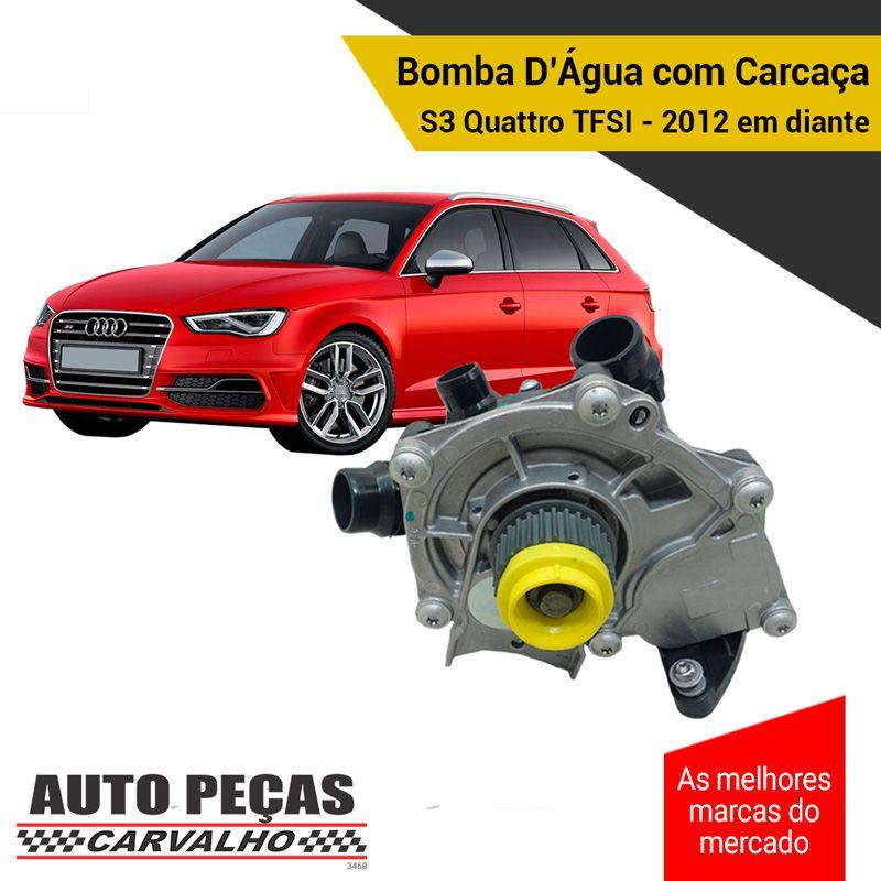 Bomba Água com Carcaça (STARKE) - S3 Quattro TFSI - 2012 2013 2014 2015 2016 2017 2018 2019 2020 (SOMENTE COM MOTOR CJXB / CJXF / CJXC)