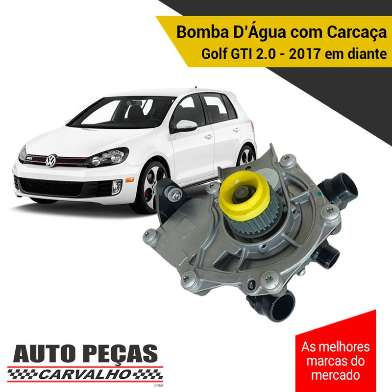 Bomba Água com Carcaça (STARKE) - VW Golf GTI 2.0 - 2017 2018 2019 2020 (SOMENTE COM MOTOR DLBA)