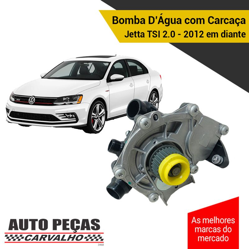 Bomba Água com Carcaça (STARKE) - VW Jetta TSI 2.0 - 2012 2013 2014 2015 2016 2017 2018 2019 2020 (SOMENTE COM MOTOR CPLA / CPPA)
