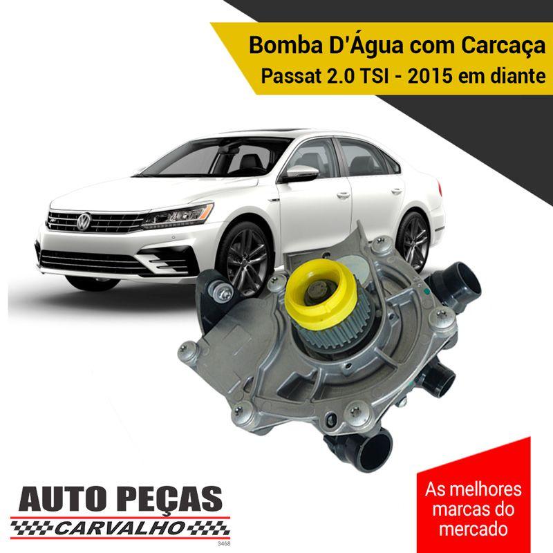 Bomba Água com Carcaça (STARKE) - VW Passat 2.0 TSI - 2015 2016 2017 2018 2019 2020 (SOMENTE COM MOTOR CHHB / CXDA / CJXA)