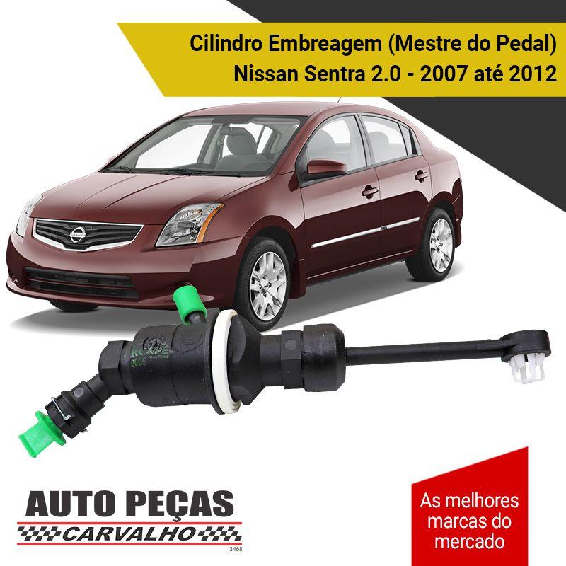 Cilindro de Embreagem Mestre do Pedal - Nissan Sentra 2.0 - 2007 2008 2009 2010 2011 2012