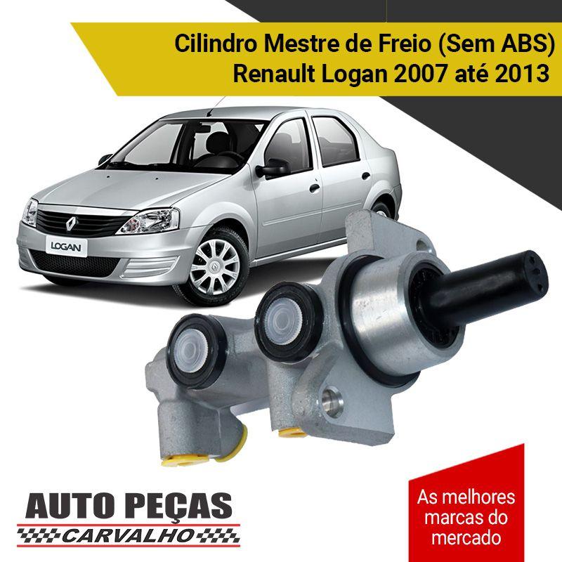 Cilindro Mestre de Freio (sem ABS) - Renault Logan - 2007 2008 2009 2010 2011 2012 2013