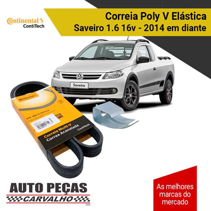Correia Poly V Elástica (Continental/ContiTech) - Fox / Golf / Up / Saveiro - 2013 em diante