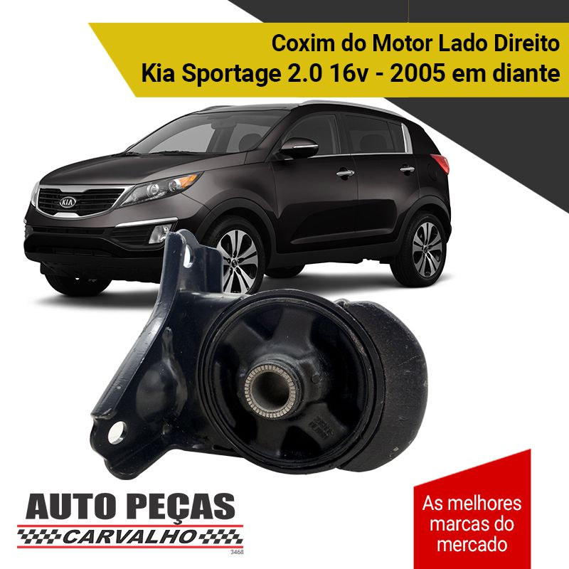 Coxim do Motor Frontal - Kia Sportage 2.0 16v - 2005 2006 2007 2008 2009 2010