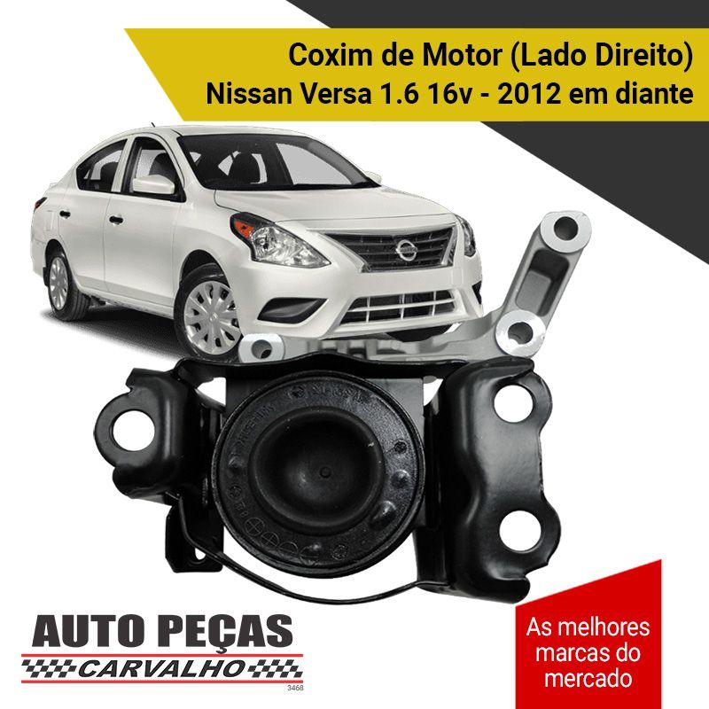 Coxim do Motor Lado Direito - Nissan March / Versa 1.6 - 2012 2013 2014 2015 2016 2017 2018 2019