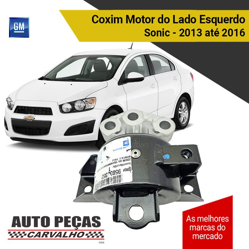 Coxim do Motor Lado Esquerdo Sonic 1.0 / 1.4 / 1.8 - 2013 2014 2015 2016