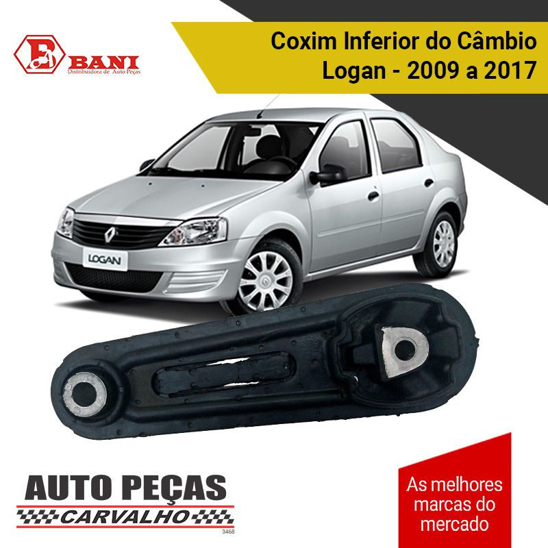 Coxim Inferior do Câmbio (BANI) - Nissan Logan - 2009 2010 2011 2012 2013 2014 2015 2016 2017