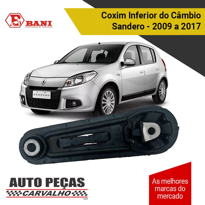 Coxim Inferior do Câmbio Sandero 2009 2010 2011 2012 2013 2014 2015 2016 2017