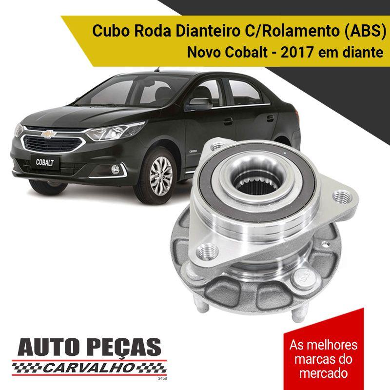 Cubo de Roda Traseira com Rolamento e ABS Chevrolet Cobalt  2017 2018 2019 2020