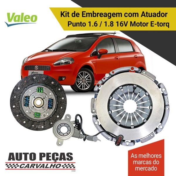 Embreagem + Atuador Dualogic  Punto 1.6 16V / 1.8 16V  2010 2011 2012 2013 2014 2015 2016 2017 2018 2019