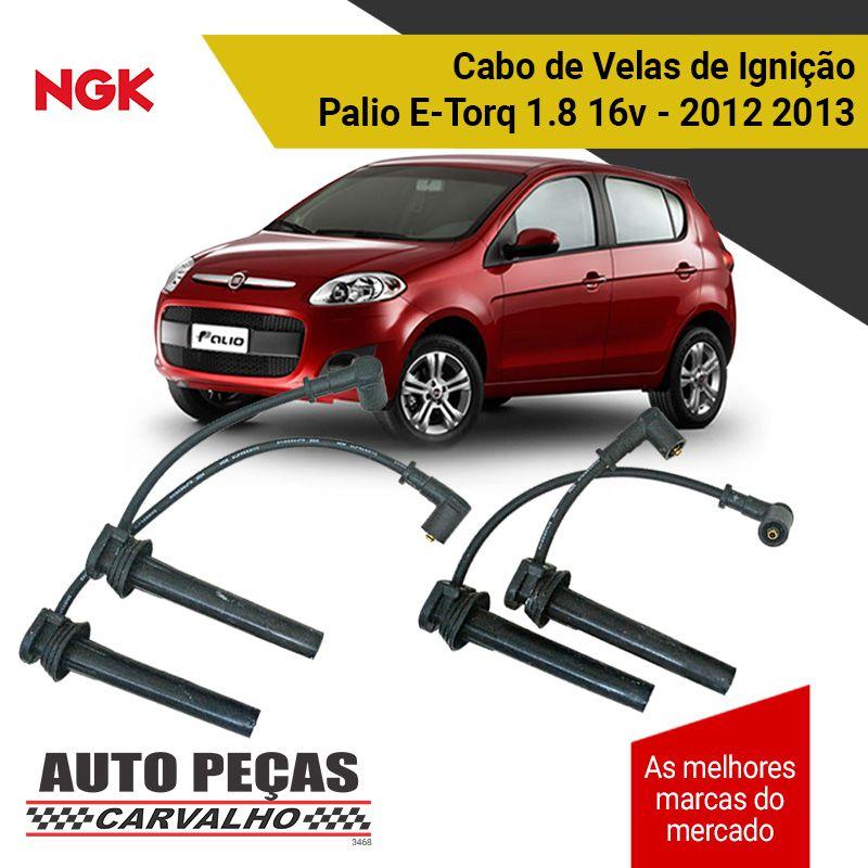 Jogo Cabo de Velas (NGK) - Palio E-Torq 1.8 16v - 2012 2013