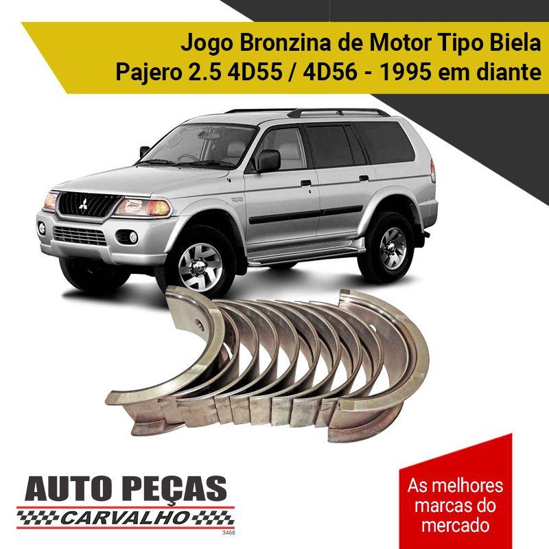 Jogo de Bronzina Biela Mitsubishi Pajero 2.5 4D55 / 4D56 - 1995 1996 1997 1998 1999 2000 2001 2002 2003 2004 2005 2006 2007 2008 2009 2010 2011 2012 2013 2014 2015 2016 2017 2018 2019