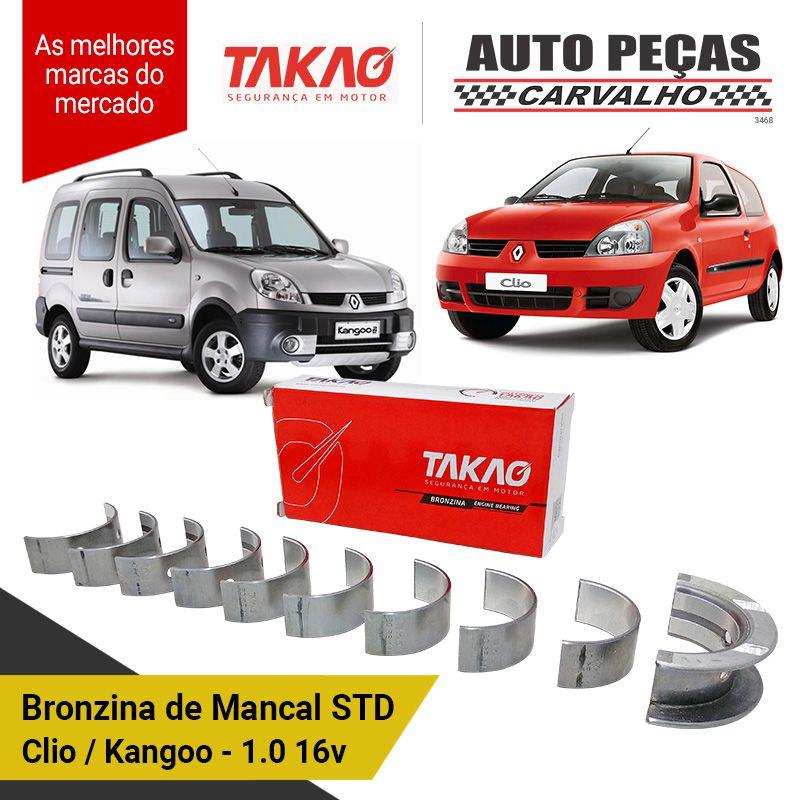 Jogo de Bronzina Clio / Kangoo / Peugeot 206 / March / Versa 1.0 e 16