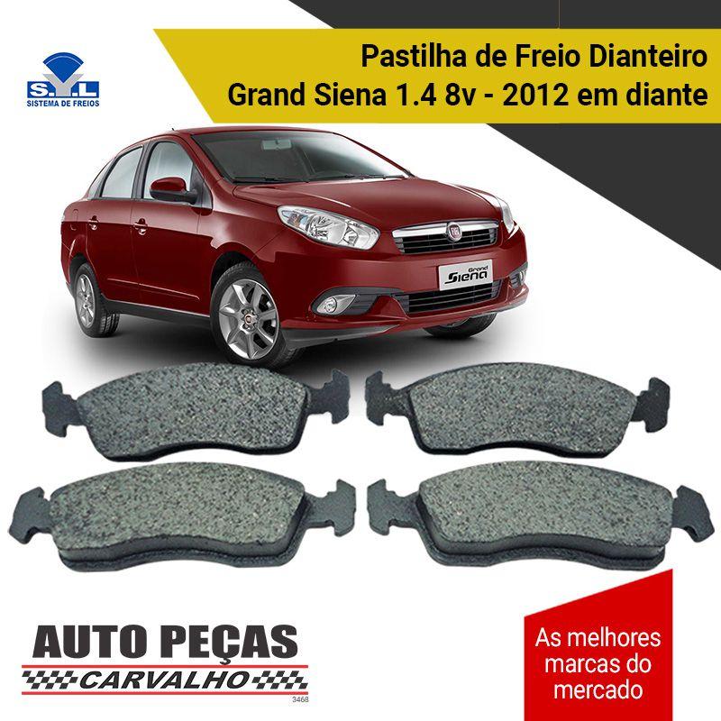 Pastilha de Freio C3 / Argo Drive / Grand Siena / Mobi / Novo Palio / Novo Uno / Peugeot 208