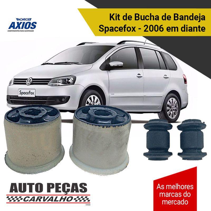 Kit 4 Buchas de Bandeja da Suspensão Dianteira (AXIOS) - Spacefox - 2006 2007 2008 2009 2010 2011 2012 2013 2014 2015 2016 2017 2018 2019