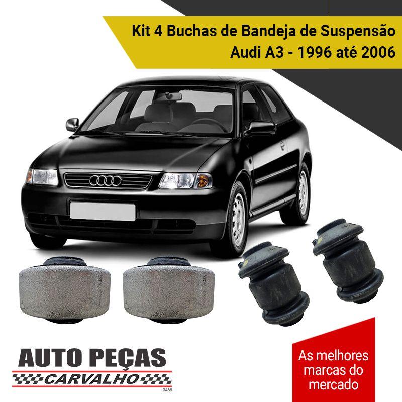 Kit 4 Buchas de Bandeja Audi A3 1996 1997 1998 1999 2000 2001 2002 2003 2004 2005 2006