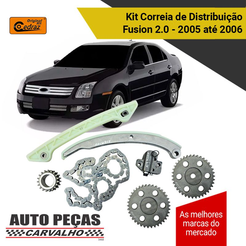 Kit Correia de Distribuição Comando (CEDRAZ) - Ford Fusion 2.0 - 2005 2006
