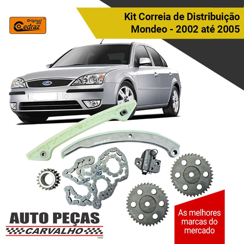 Kit Correia de Distribuição Comando (CEDRAZ) - Ford Mondeo 2.0 - 2002 2003 2004 2005