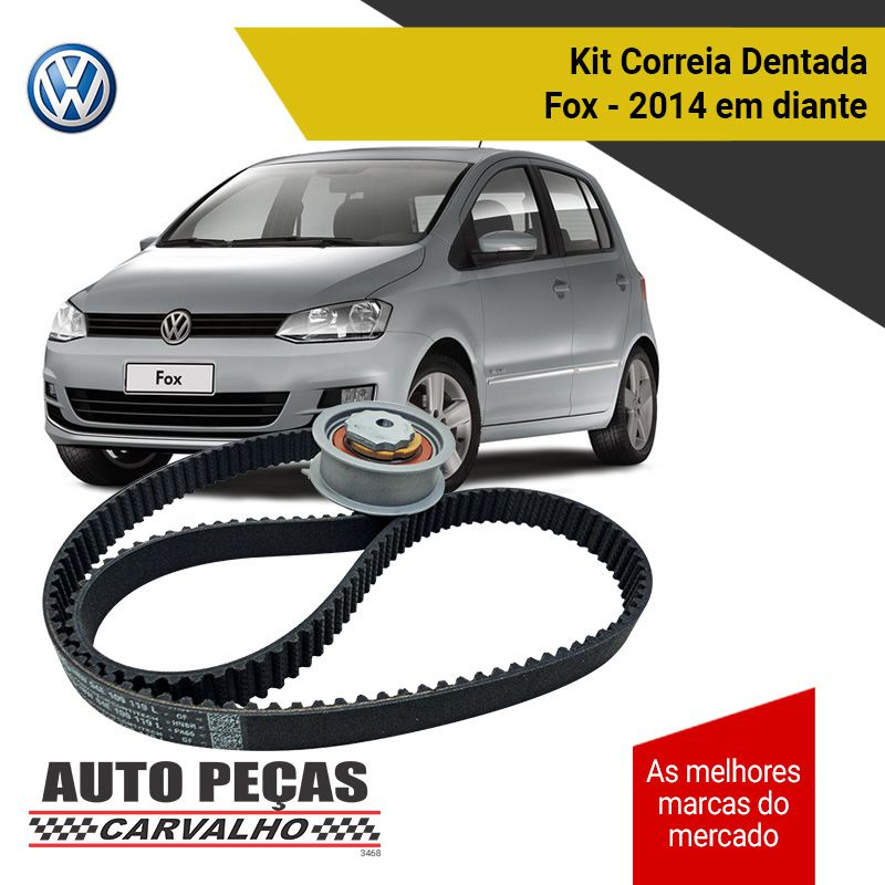 Kit Correia Dentada + Tensor (VW) - Fox 1.0 1.6 12v 16v - 2014 2015 2016 2017 2018 2019