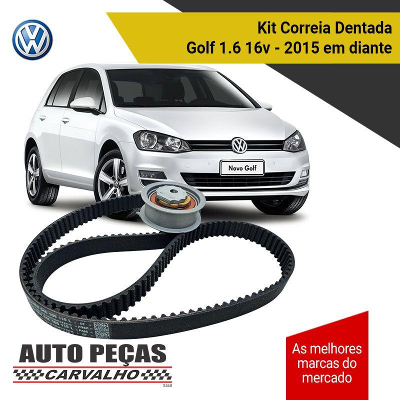Kit Correia Dentada + Tensor (VW) - Golf 1.4 16v TSI - 2013 2014 2015 2016 2017 2018 2019