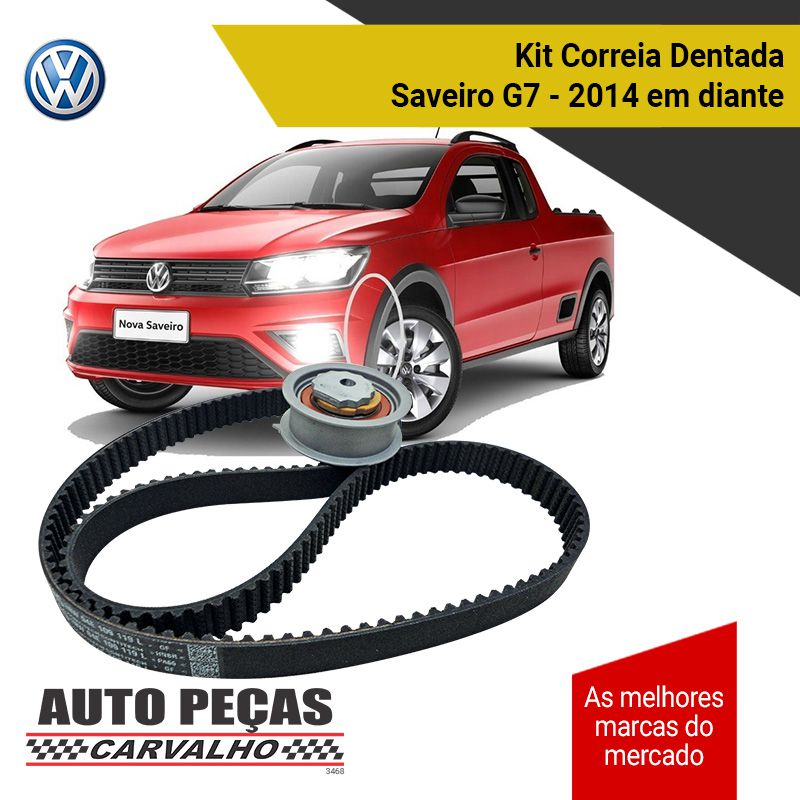 Kit Correia Dentada + Tensor (VW) - Saveiro G7 1.6 16v - 2014 2015 2016 2017 2018 2019