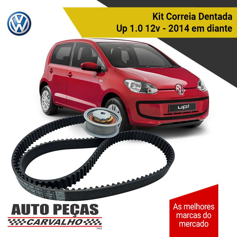 Kit Correia Dentada + Tensor (VW) - Up 1.0 12v - 2014 2015 2016 2017 2018 2019