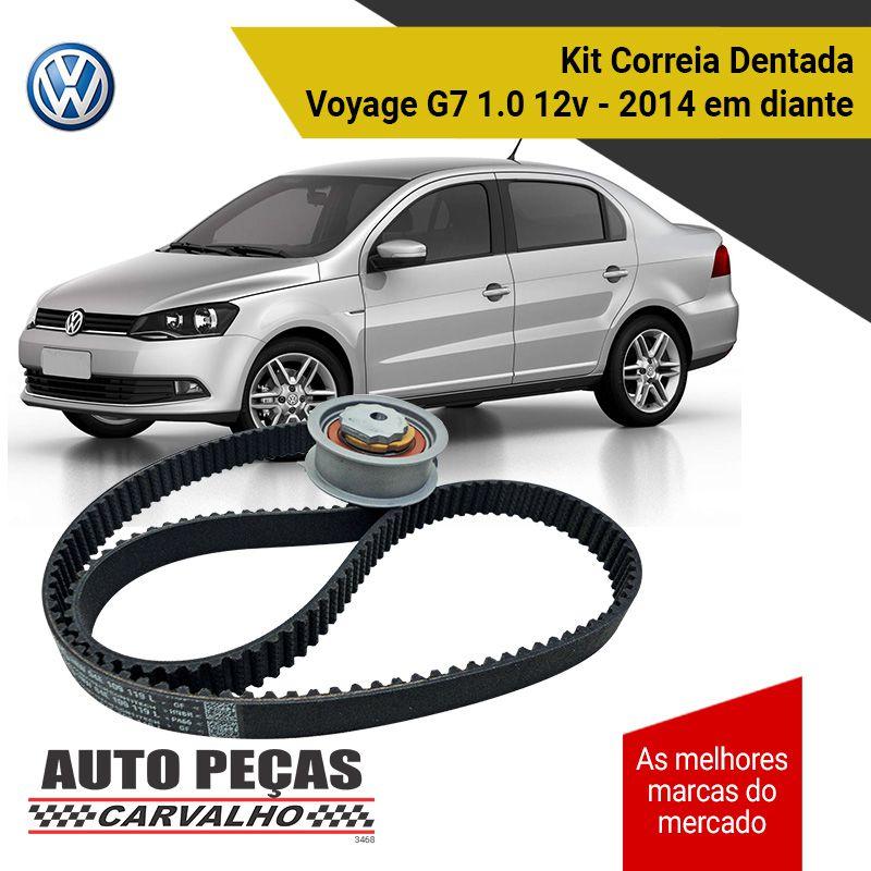 Kit Correia Dentada + Tensor (VW) - Voyage G7 1.0 12v - 2014 2015 2016 2017 2018 2019