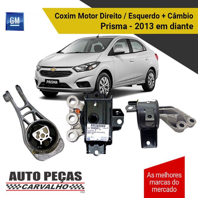 Kit Coxim do Motor Direito / Esquerdo + Coxim do Câmbio (GM) - Chevrolet Novo Prisma - 2013 2014 2015 2016 2017 2018 2019