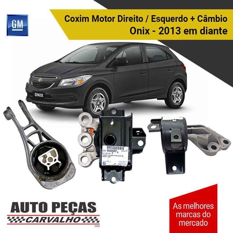 Kit Coxim do Motor Direito / Esquerdo + Coxim do Câmbio (GM) - Chevrolet Onix - 2013 2014 2015 2016 2017 2018 2019