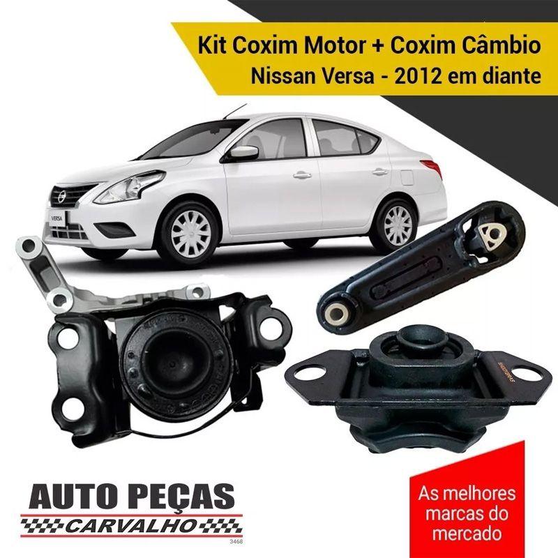Kit Coxim Motor + Câmbio - Nissan Versa - 2012 2013 2014 2015 2016 2017 2018 2019