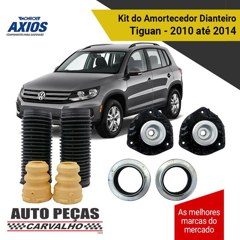 Kit de Amortecedores Dianteiros + Coxim Tiguan 2.0 - 2010 2011 2012 2013 2014