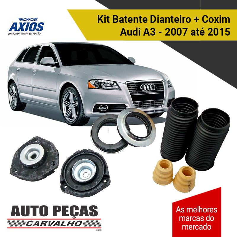 Kit de Batente Amortecedor Dianteiro + Coxim Jetta / Passat / Audi A3 Sportback