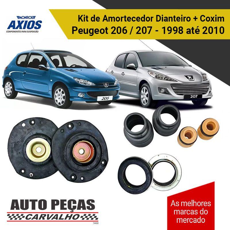 Kit de Batente Amortecedor Dianteiro + Coxim Peugeot 206 / 207 - 1998 até 2010