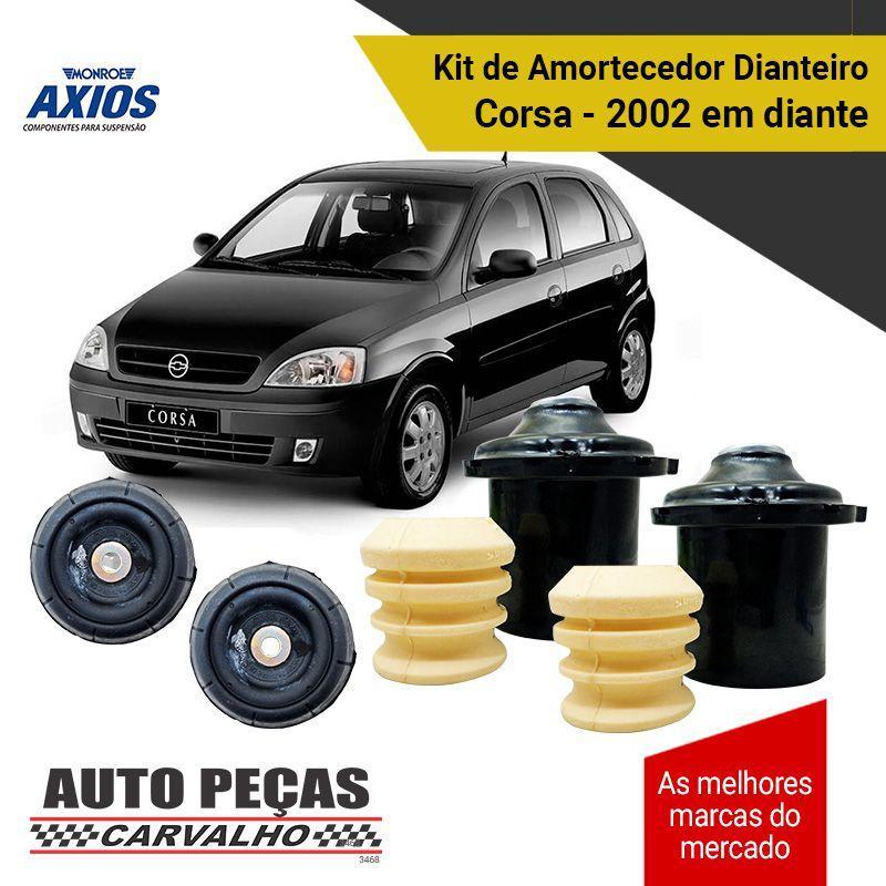 Kit de Batentes dos Amortecedores Dianteiro (AXIOS) - Corsa - 2002 2003 2004 2005 2006 2007 2008 2009 2010 2011 2012 2013 2014 2015 2016 2017 2018 2019