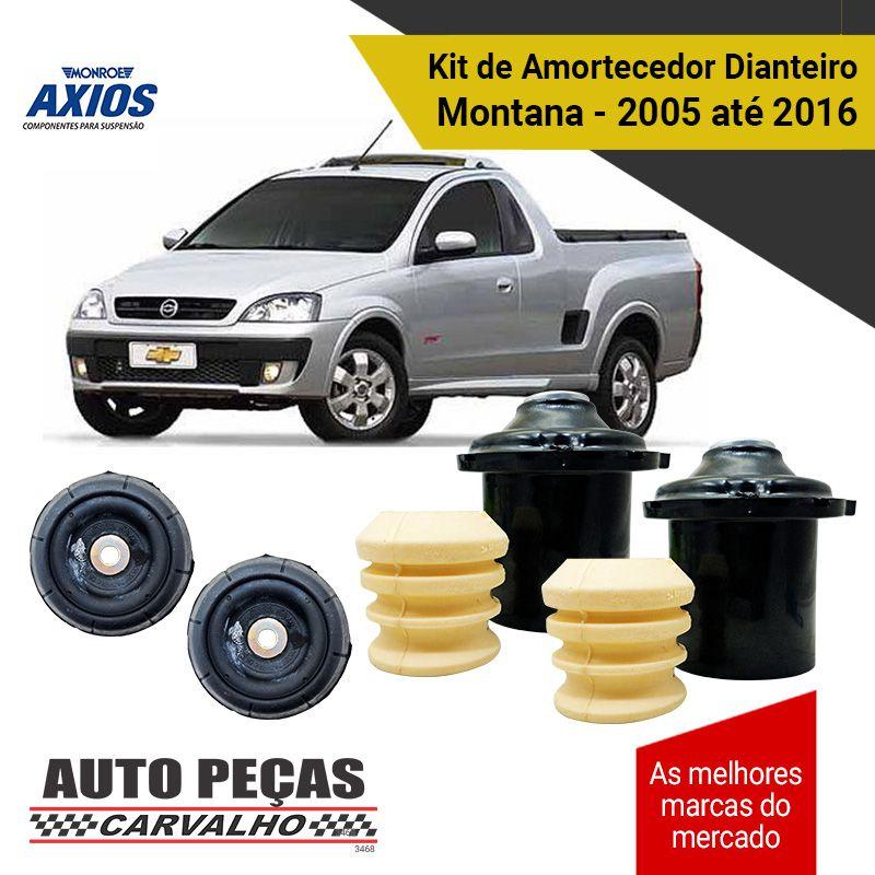 Kit de Batentes dos Amortecedores Dianteiro (AXIOS) - Montana - 2005 2006 2007 2008 2009 2010 2011 2012 2013 2014 2015 2016