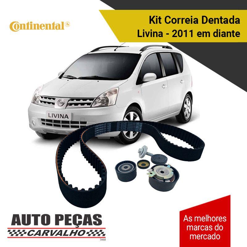 Kit de Correia Dentada (ContiTech) - Clio / Duster / Kangoo / Logan / Megane / Scenic / Symbol / Livina / Tiida - 1.6 16v