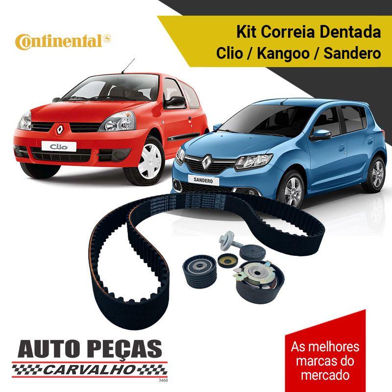 Kit de Correia Dentada Clio / Duster / Kangoo / Logan / Megane / Scenic / Symbol / Livina / Tiida - 1.6 16v