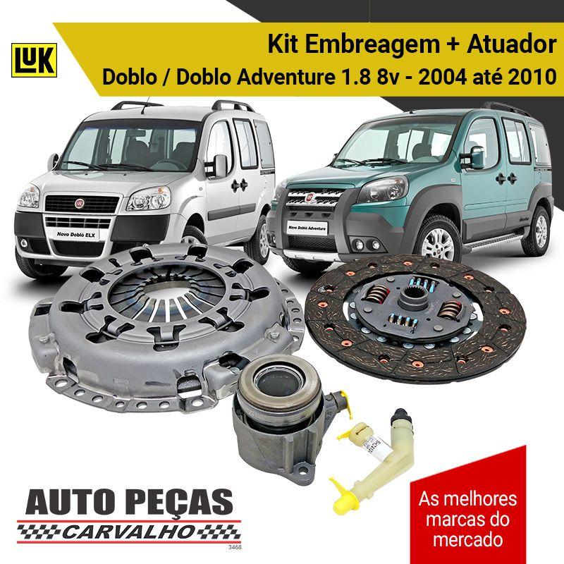 Kit de Embreagem + Atuador (LUK) - Fiat Doblo / Doblo Adventure 1.8 8v - 2004 2005 2006 2007 2008 2009 2010