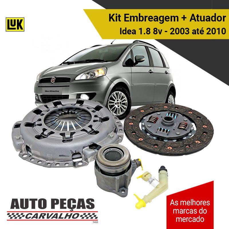 Kit de Embreagem + Atuador (LUK) - Fiat Idea 1.8 8v - 2003 2004 2005 2006 2007 2008 2009 2010