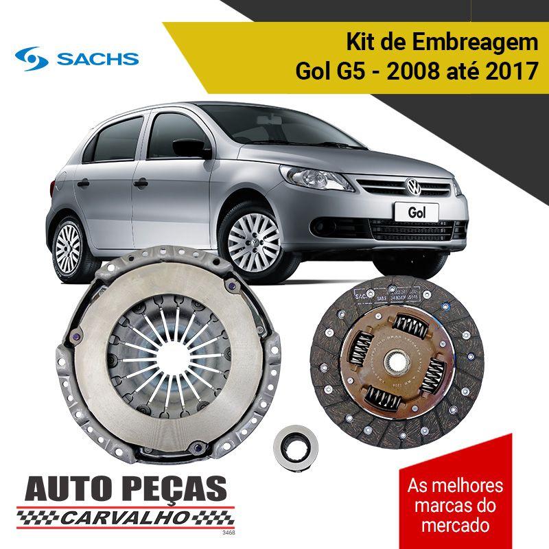 Kit de Embreagem com Rolamento (SACHS) - Gol 1.0 G5 - 2008 2009 2010 2011 2012 2013 2014 2015 2016 2017