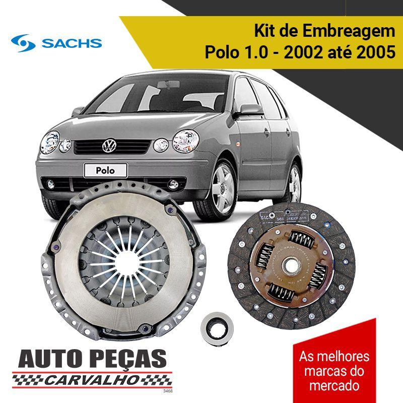 Kit de Embreagem com Rolamento (SACHS) - Polo 1.0 - 2002 2003 2004 2005