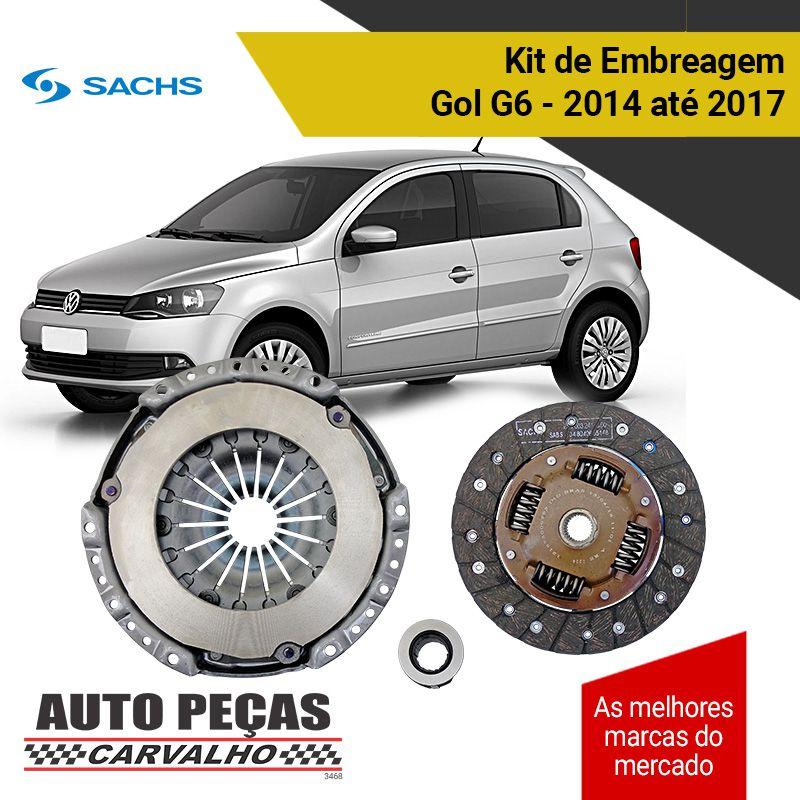 Kit de Embreagem com Rolamento (SACHS) - Polo 1.6 - 2004 2005 2006 2007 2008 2009 2010 2011 2012 2013 2014 2015 2016 2017