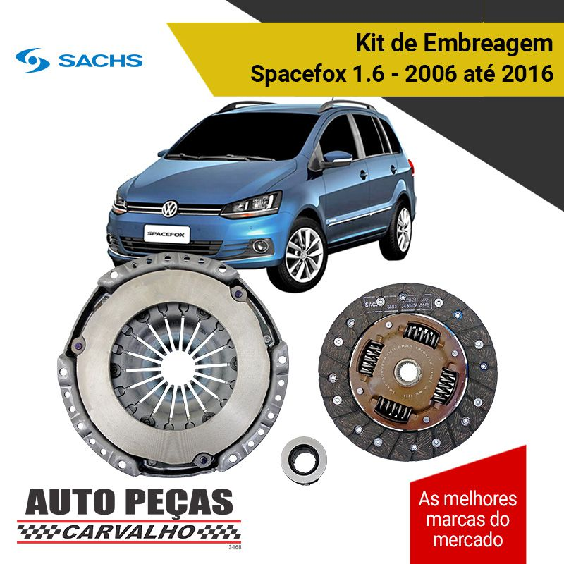 Kit de Embreagem com Rolamento (SACHS) - Spacefox 1.6 - 2006 2007 2008 2009 2010 2011 2012 2013 2014 2015 2016
