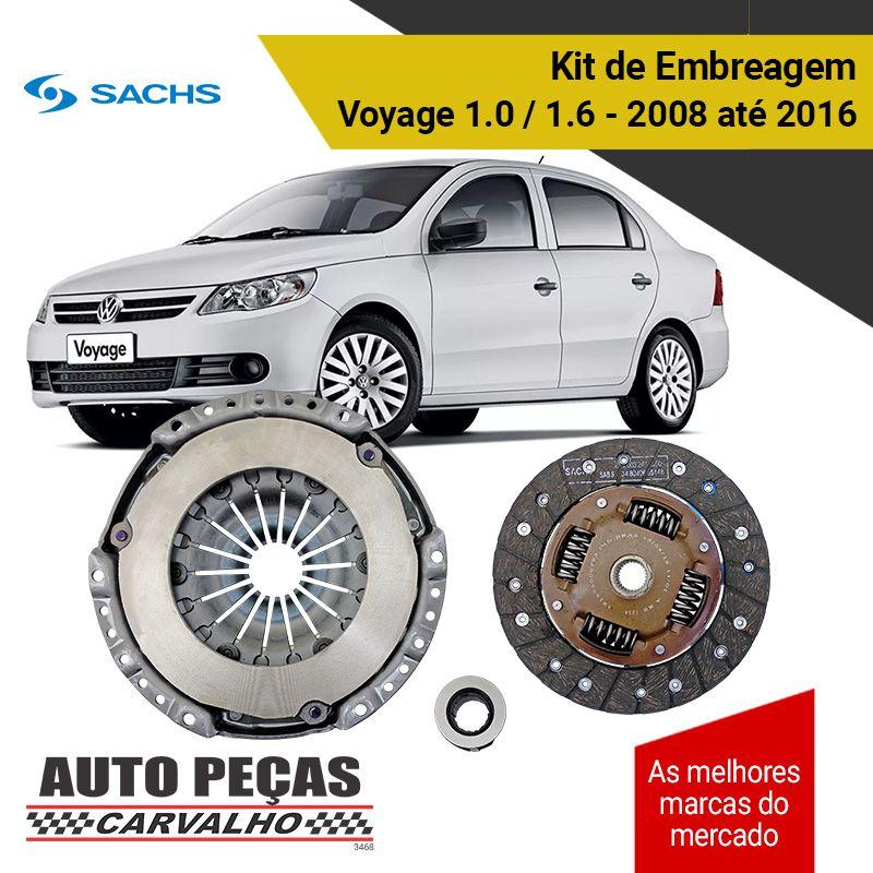 Kit de Embreagem com Rolamento (SACHS) - Voyage 1.0 / 1.6 - 2008 2009 2010 2011 2012 2013 2014 2015 2016