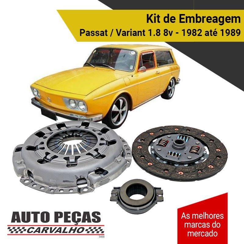 Kit de Embreagem Passat / Variant 1.8 8v - 1982 1983 1984 1985 1986 1987 1988 1989