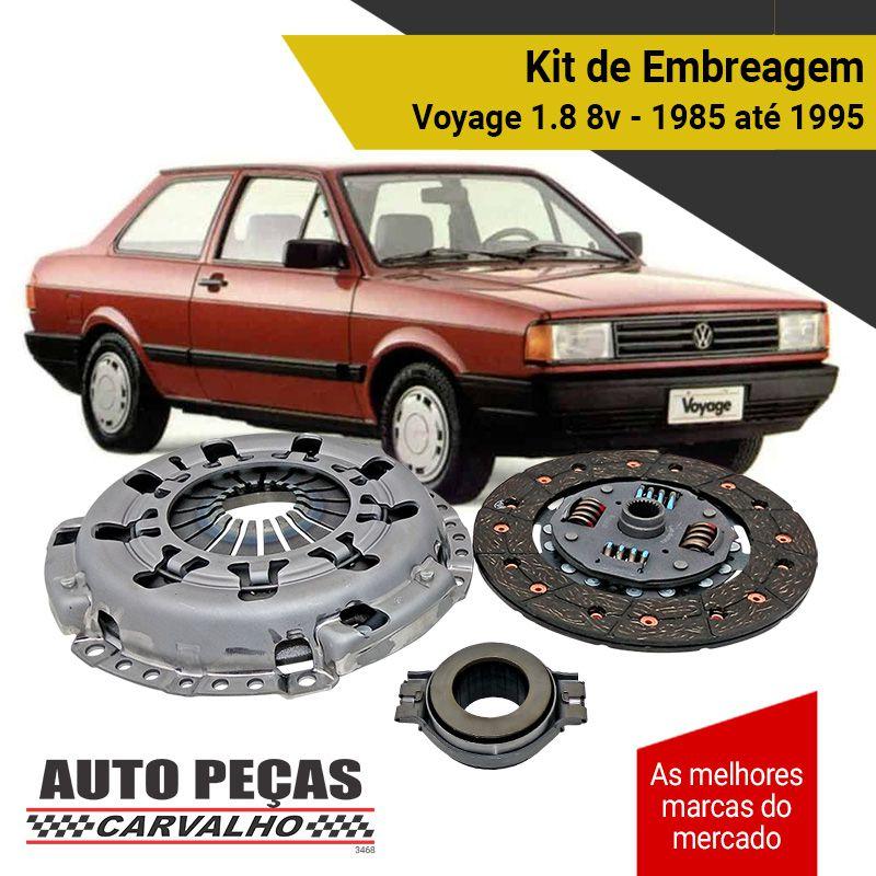 Kit de Embreagem (LUK) - Voyage 1.8 8v - 1985 1986 1987 1988 1989 1990 1991 1992 1993 1994 1995