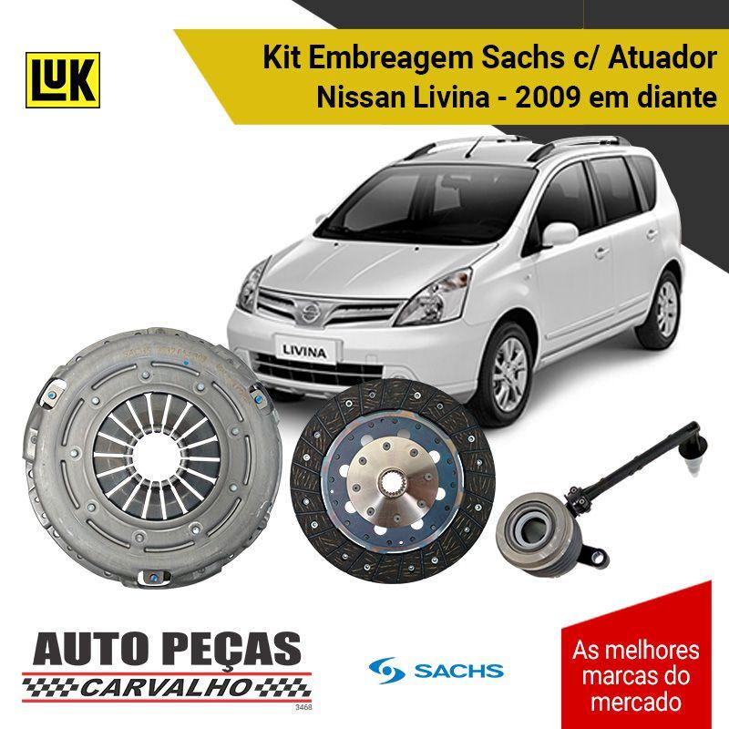 Kit de Embreagem com Atuador Nissan Livina 1.8 - 2009 2010 2011 2012 2013 2014 2015 2016 2017 2018 2019