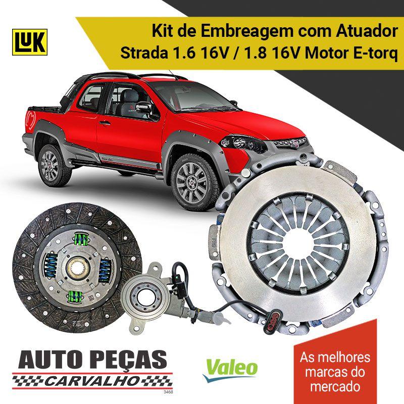 Embreagem + Atuador Dualogic Strada 1.6 16V / 1.8 16V 2010 2011 2012 2013 2014 2015 2016 2017 2018 2019