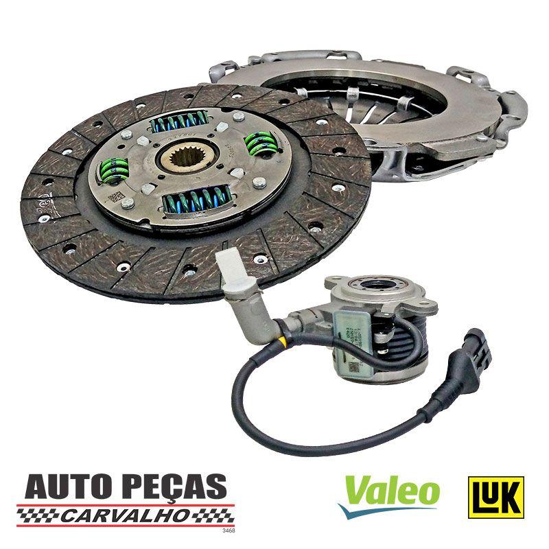Kit de Embreagem (Valeo) + Atuador (LUK) -  Fiat Toro 1.8 16v Flex - 2012 2013 2014 2015 2016 2017 2018 2019 2020